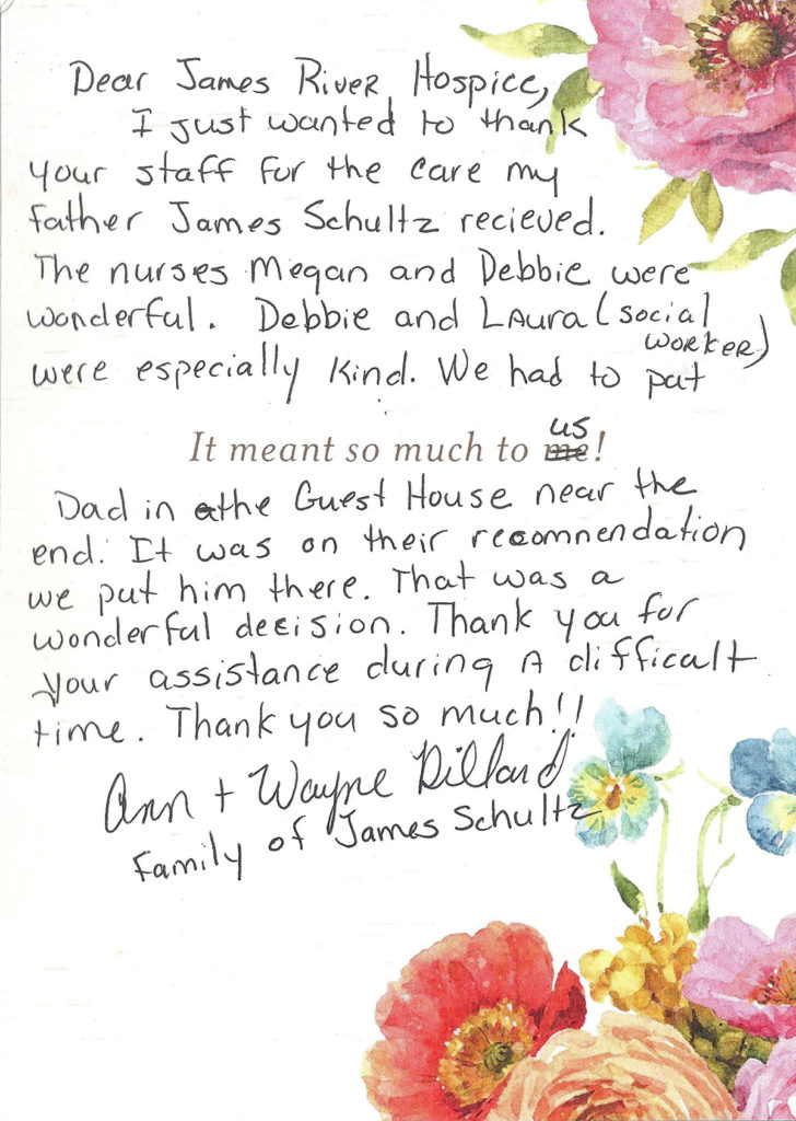 James River Hospice note